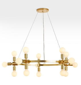 """RADCLIFFE 30"""" ROUND BARE BULB CHANDELIER"""
