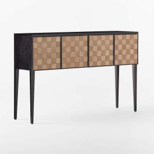 CHELSEA LEATHER WOVEN CREDENZA