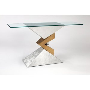 """Glass 62.5"""" Console Table"""
