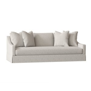 """Grace 89"""" Square Arm Slipcovered Sofa with Reversible Cushions"""