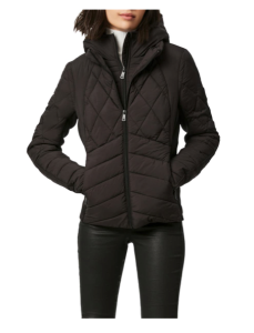 Puffer Jacket with Removable Bib & Hood