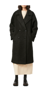 Oversize Double Breasted Faux Fur Coat