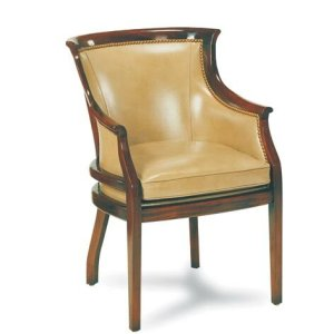 Sheraton Solid Wood Genuine Leather Armchair