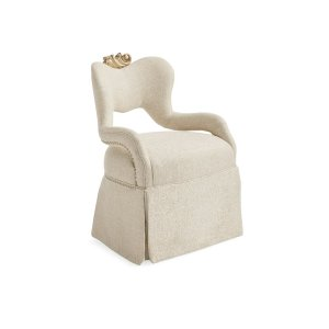 Upholstered Arm Chair in Beige