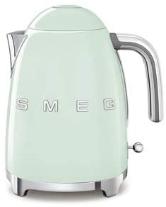 Smeg KLF03PGUS 50's Retro Style Aesthetic Electric Kettle with Embossed Logo, Pastel Green