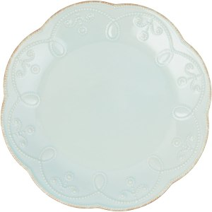 Lenox French Perle Accent Plate, Ice Blue