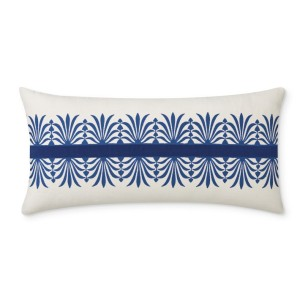 Acanthus Velvet Embroidered And Applique Pillow Cover