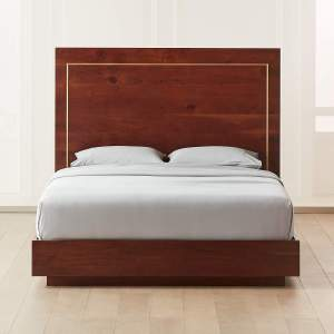 EVERETT ACACIA WITH BRASS INLAY QUEEN BED