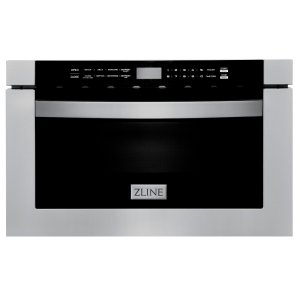 ZLINE Kitchen And Bath Black Stainless Steel 24'' 1.2 Cubic Feet cu. ft. Microwave Drawer