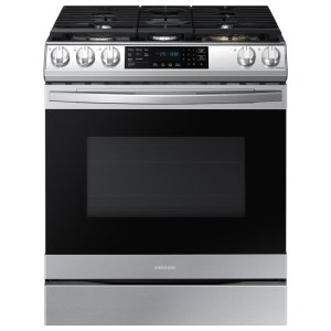"""30"""" 6 cu. ft. Smart Slide-In Gas Range with Griddle and Air Fry"""