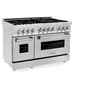 """48"""" 6 cu. ft. Freestanding Dual Fuel with Griddle"""