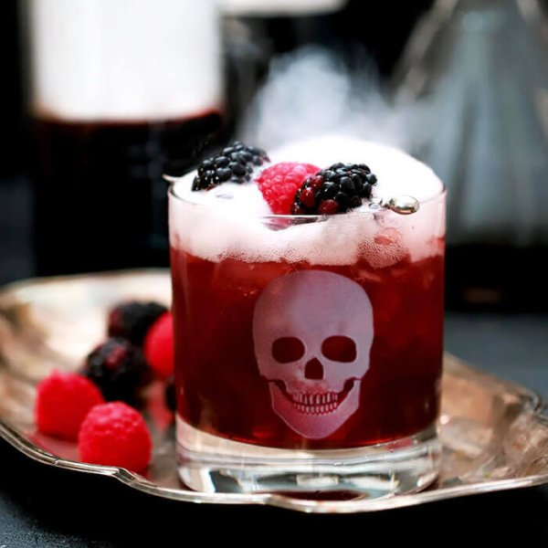 Halloween Skull Double Old-Fashioned Glasses